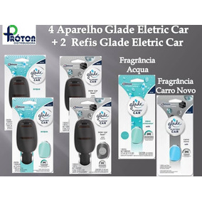 4 Aparelhos Glade Eletric Car + 2 Unidade Refil