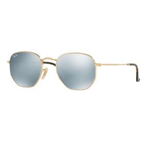 e277297f2289e Óculos De Sol Unisex Ray Ban Prata Hexagonal - Óculos no Mercado ...