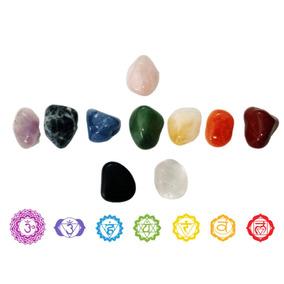 Kit Cristais 7 Chakras + Yin Yang Pedras Brasileiras 2 Cm