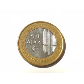 Frete Grátis - Moeda 1 Real Bc 50 Anos Banco Central 2015