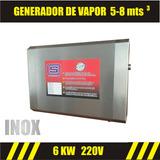 Generador De Vapor Acero Inoxidable 5-7m3 220v Baño Vapor