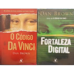 Código Da Vinci + Fortaleza Digital Livros Brown Frete 13