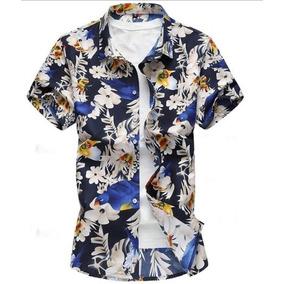 Camisa Manga Curta Floral Masculina Barata Premium Luxo 51b1faef1bbf6