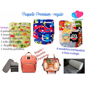 Pañal Ecologico Paquete Premium 6 + Regalos + Pañalera!