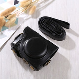 Full Body Camera Pu Leather Case Bag With Strap For Canon G9