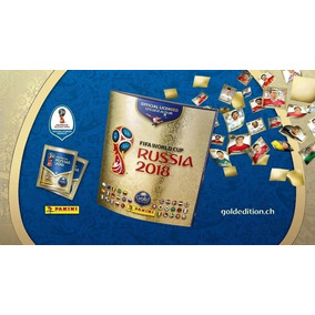 Kit 50 Figurinhas Álbum Copa Do Mundo 2018 Gold Edition