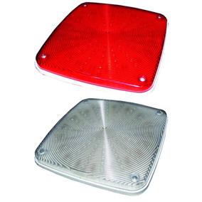 Luminária Ambulância Lateral Cristal(6) Vermelha(8)