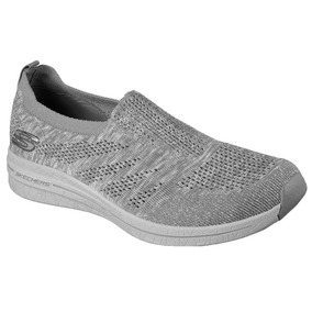 Skechers Haviture Slip On Gris Casual Deportivo Memory Foam