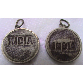 2 Medalhas Antigas Inscrito Índia