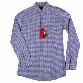 Camisa Hugo De Hugo Boss Plaid Lv Para Hombre Talla 16