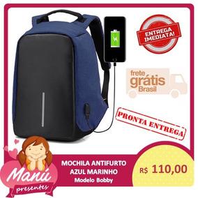 Mochila Bobby Laptop Anti Furto Roubo Usb Carregador