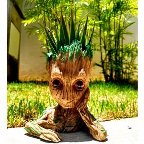 Vasos Para Flores Baby Groot Plantas Suculentas Cacto Resina