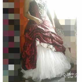 Hermoso Vestido De Xv Color Vino