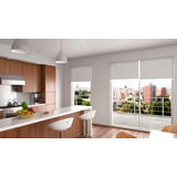 Cortina Roller Blackout Color Blanco 120x190 Clems