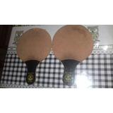 Par Raquete Antiga Ping Pong Rei .