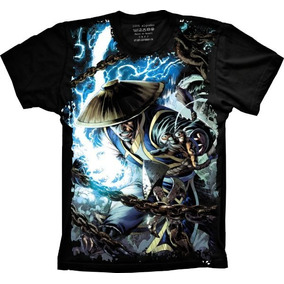 Camisa, Camiseta Games Raiden Mortal Kombat Personalizado
