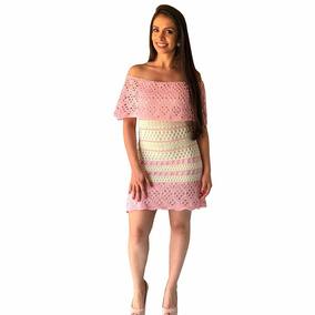 Vestido De Tricô Tricot Ciganinha Curto Listrado Formatura