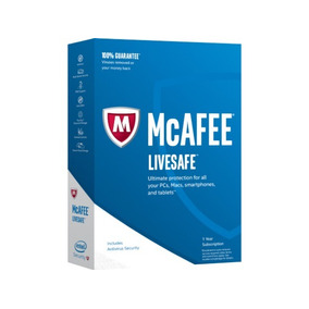 Antivírus Mcafee Livesafe Security 2019 - Ilimitado - 01 Ano