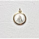 Medalla Virgen Milagrosa Oro Y Plata 925