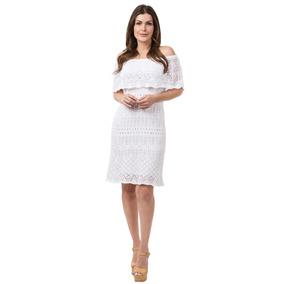 Vestido Curto Feminino Tricot Tricô Ombro A Ombro Blogueiras