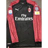 Camisa Milan 2018 19 Higuain  9 Mangas Longas Uniforme 3 ae61e553e0108