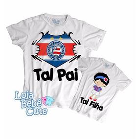 Kit 3 Camisetas Tal Pai Mãe Filho Bahia Qualquer Time · R  87 90 42f995b50e8e9