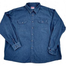 056675ace0 Wrangler Camisas Rodeo - Camisas Manga Larga de Hombre Azul acero en ...