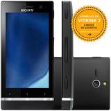 Smartphone Sony Xperia U St25a 8gb Single 3g Preto Vitrine 2