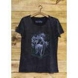 T-shirt Yes Bird Feminina Harpia - Grafite Estonado