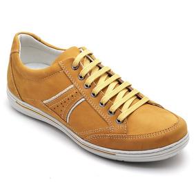 cf59e8a319a Tenis Amarelo Mostarda Masculino Sapatenis - Calçados