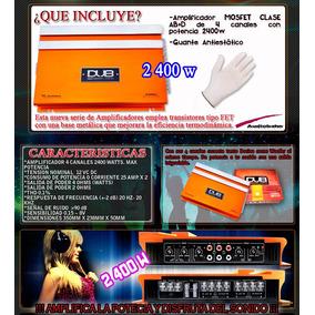 Amplificador Dub Audiobahn 2400w 4ch Para Bocinas Y Woofers