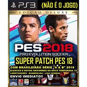 Patch Pes 18 Ps3 (atualização) Temporada Brasileirão 2019 19