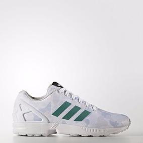 5452bc8bb08 Tenis Hombre Adidas Zx Flux Blancos Con Verde - Tenis Blanco en ...