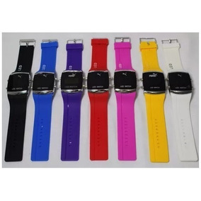 Kit 5 Relógios Silicone Led Digital Feminino E Masculino