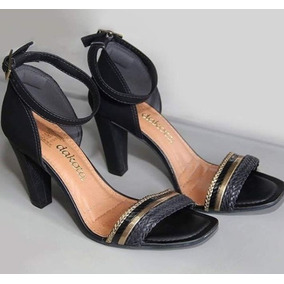 f60f50a51 Salto Alto Dourado E Com Brilho Dakota - Sapatos no Mercado Livre Brasil