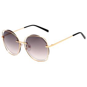 7567c2a7e68b6 Hickmann Hi 3078 - Óculos De Sol 04c Dourado Brilho  Preto D