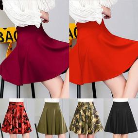 Moda Mujer Faldas De Camuflaje Drapeado Una Lnea De Cint