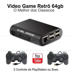 Video Game 64gb De Memoria 2 Controles + Multimídia Brinde