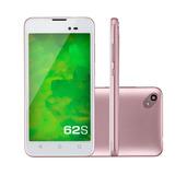 Smartphone Mirage 62s 3g Quadcore 1gb Ram Dual Câmera Rosa