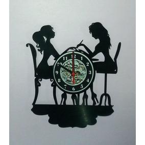 Relógio De Parede, Manicure, Salão De Beleza, Unhas