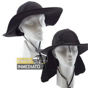 Sombrero 2 En 1 Caza Pesca Playa Protector Color Negro 42c32241692