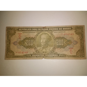 Cédula De 200 Cruzeiro C 097 Ano 1949 Série 7.