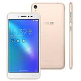 Celular Zenfone Live Dourado Asus 5, 4g, 32gb 13 Mp Anatel