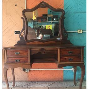 Penteadeira Antiga Espelho Bisotado Embuia Excelente