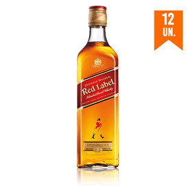 Combo Johnnie Walker Red 12 Uni - 12 Red Label 750ml 5% Off