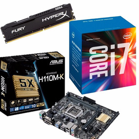 Kit Mb Asus H110m-k + Proc. I7 7700 + Mem 8gb - Na Caixa