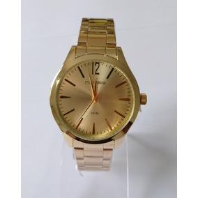 Relógio Masculino Dourado Mondaine Original Ref99230lpmvde1.
