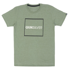 4681542871794 Camiseta Quiksilver Infantil Heather Signature Verde