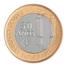 Moeda De 1 Real Comemorativa 50 Anos Banco Do Brasil