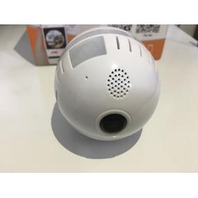 Lâmpada Câmera Ip Wifi Infravermelho 360 Sensor Presença